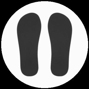 Stickers pieds x25 paires